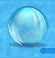 Glass glossy sphere vector