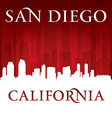 San diego california city skyline silhouette vector