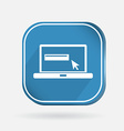 Color icon with shadow laptop vector