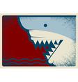 Shark poster background for design vector
