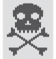 Knitted skull background vector