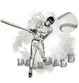 Base ball player vector