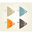Four colored paper triangles vector
