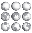 Set of globe icons vector