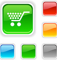 Shopping button vector