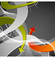 Abstract arrows background vector