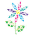 Pink aqua purple blue and yellow mosaic spiky vector