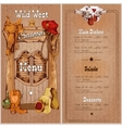 Wild west saloon menu vector