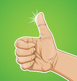 Thumbs up color vector