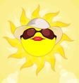 Sun summer holiday woman vector