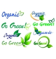 Go green icons and symbols vector