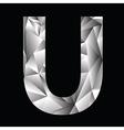 Crystal letter u vector