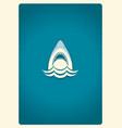 Shark jaws logo blue symbol vector