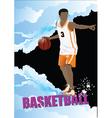 Basketball poster vector