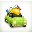 Car travel icon vector