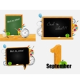 Back to school background set eps10 vector