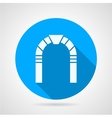Stone arch flat icon vector