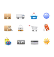 Shopping consumerism icon set vector