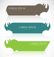 Rhino banners vector