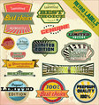 Retro premium quality labels vector