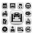 Auto icons set vector