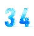 Blue polygonal font vector