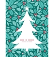 Christmas holly berries christmas tree silhouette vector