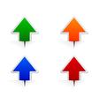 Glossy arrows vector
