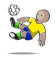 Football player kicking the ball vector