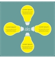 Four yellow light bulb idea concept business vector