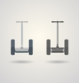 Two segways a front view vector