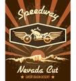 Retro speedway nevada cut graphic design vector