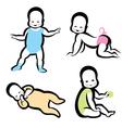 Cheerful active baby symbol vector