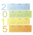 European color calendar 2015 vector