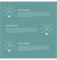 Three step business infographic with white light vector