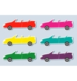 Set of colorful sport cabriolet vector