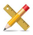 Pencil ruler vector