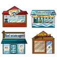 Shops set vector