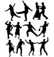 Elderly people dancing vector