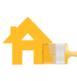 Brush painting house vector