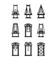 Various types of bridges vector
