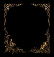 Old antique gold frame style pattern isolatedcorn vector