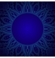 Blue background with lace ornament vector