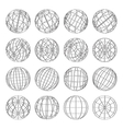 Set of abstract globes vector