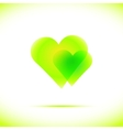 Heart icon with four vector