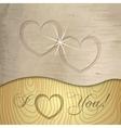 Saint valentines wooden background vector