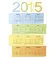 European color calendar 2015 vector