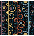 Disco style circles seamless pattern vector