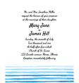 Wedding invitation with watercolor elements vector