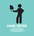 Hand dryer machine in public toilet vector